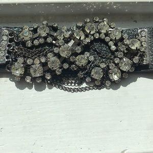 Jewelry - Black studded bracelet.